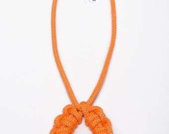 Florabelle Necklace (large) - rope necklace, knot necklace, macrame necklace, orange necklace