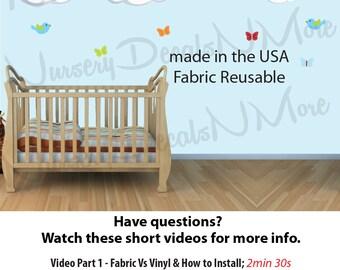 Rainbow Wall Stickers for Nursery, Rainbow and Cloud Wall Stickers for Kids Room (Rainbow and Clouds)