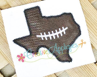 Texas Football Digital Machine Embroidery Applique Design 4 Sizes