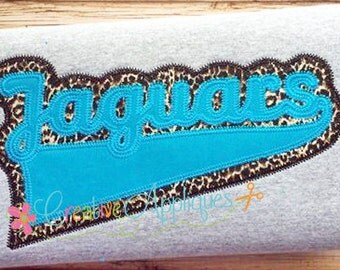 Jaguars Digital Machine Embroidery Applique Design 6 sizes, jaguars applique, jaguars mascot, jaguars name, jaguars team, jaguars word