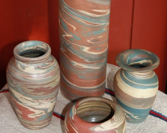 Large Vintage Niloak Missionware Cylinder Vase