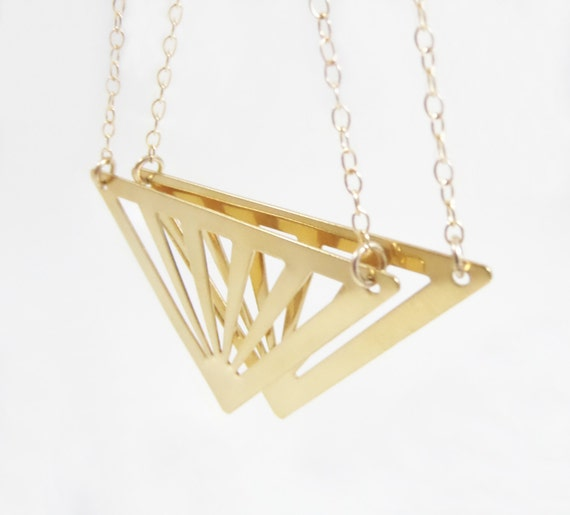 items similar to triangle dangle earrings gold filled earrings minimal and dainty on etsy. Black Bedroom Furniture Sets. Home Design Ideas