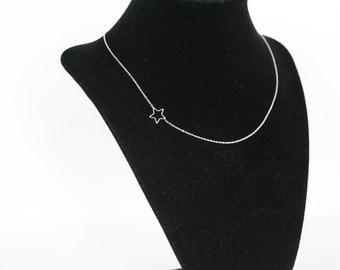 Open Star Necklace, .925 Sterling Silver Chain Or 14k Gold Filled Chain, Bulk Wedding Gifts