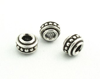 Large Hole Spacer Beads, Beaded with Rim SKU#BGE0008 Quantity: 25 Beads