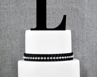 Letter L - Initial Cake Topper, Monogram Wedding Cake Topper, Custom Cake Topper