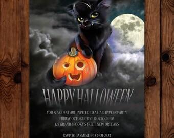 Printable Halloween Party Invitation-Customizable