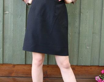 Mini Black Skirt Romantic Secretary Pencil Skirt Small Size