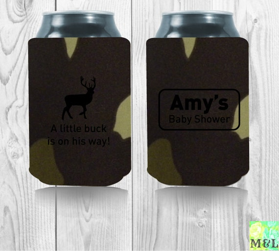 baby shower favor drink coozie koozie a little buck is on his