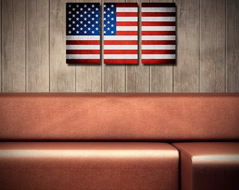 The Original American Flag Triptych
