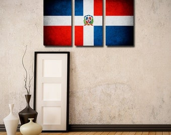 Dominican Republic Flag Triptych (w/ Free Shipping!)