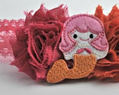 Mermaid Shabby Flower Headband