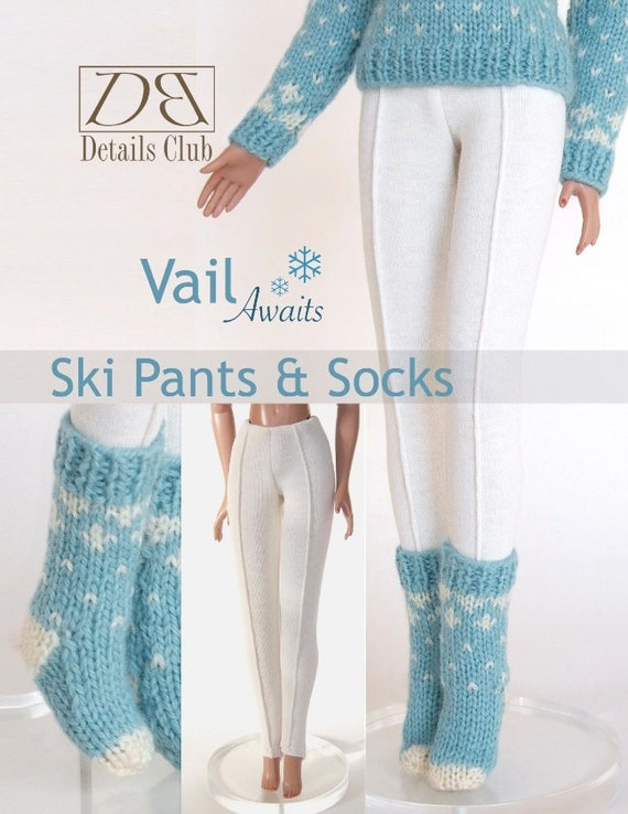 Knitting Pattern For Ski Socks : Sewing & Knitting pattern for 16 doll Tyler Wentworth:
