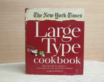 New York Times Cookbook ~ Large Type Cookbook ~ 1968 ~ Jean Hewitt