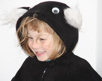 panda bear costume halloween carnival cape for toddlers