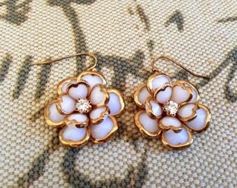Vintage Elegant Rose Flower Earrings