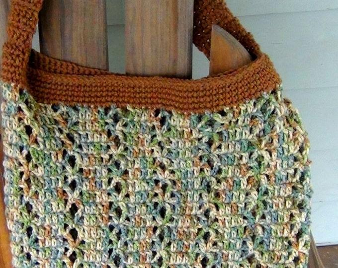 Tote Bag - Market Bag - Shoulder Tote - Beach Bag and Totes - Crochet Market Bag - Reuseable Eco Grocery Bag