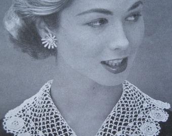 Irish Crocheted Collar - Vintage