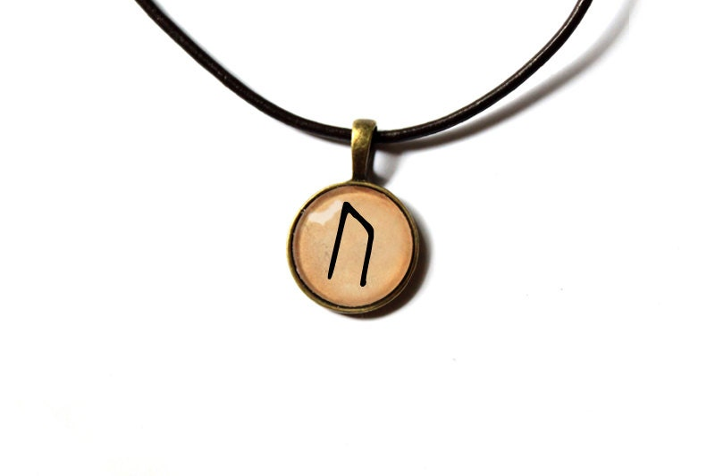 rune pendant scandinavian jewelry nordic design antique style