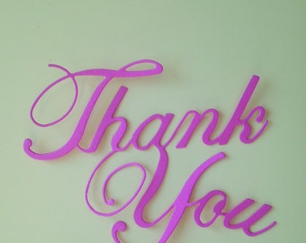 Thank You Die Cuts Phrase
