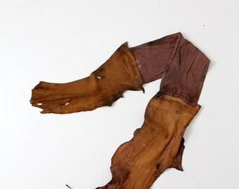 vintage Native American sash,  buckskin waistband belt