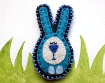 Felt Fridge Magnet (Rabbit)