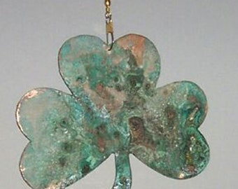 Copper Patina Shamrock Fan Chain Decor***FREE SHIPPING