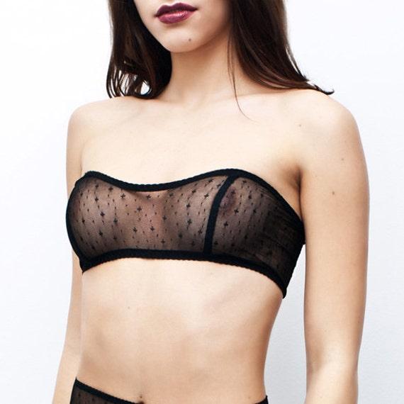 Lace Bralettes / Black Lace Bandeau Provoke /