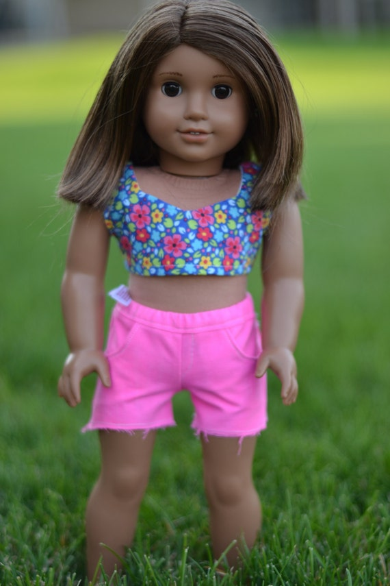 sale pink shorts for american girl dolls by sunrisedolls on etsy. Black Bedroom Furniture Sets. Home Design Ideas