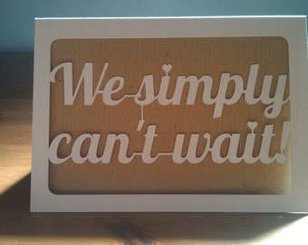 Wedding Acceptance Card | RSVP Response Card | Handmade Paper Cut Invitation Response