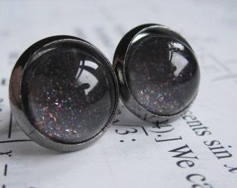 Abyss - Earring studs - science jewelry - science earrings - galaxy jewelry - physics earrings - fake plugs - plug earrings - nebula jewelry