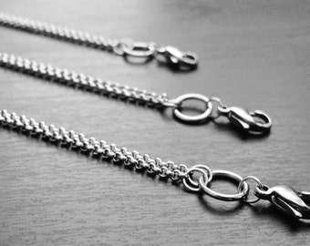 32 Inch Necklace Chain for Floating Lockets and Pendants-Silver Stainless-Chain-Gift Idea