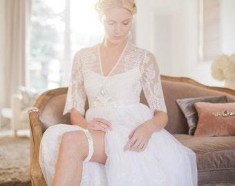 Opa wedding garter / ivory