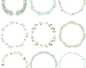 Laurel Wreath Clip Art Images, Vector,  and Photoshop Brushes Green Version