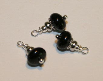 "BC-058 ""Deep Water"" beaded charms (3)"