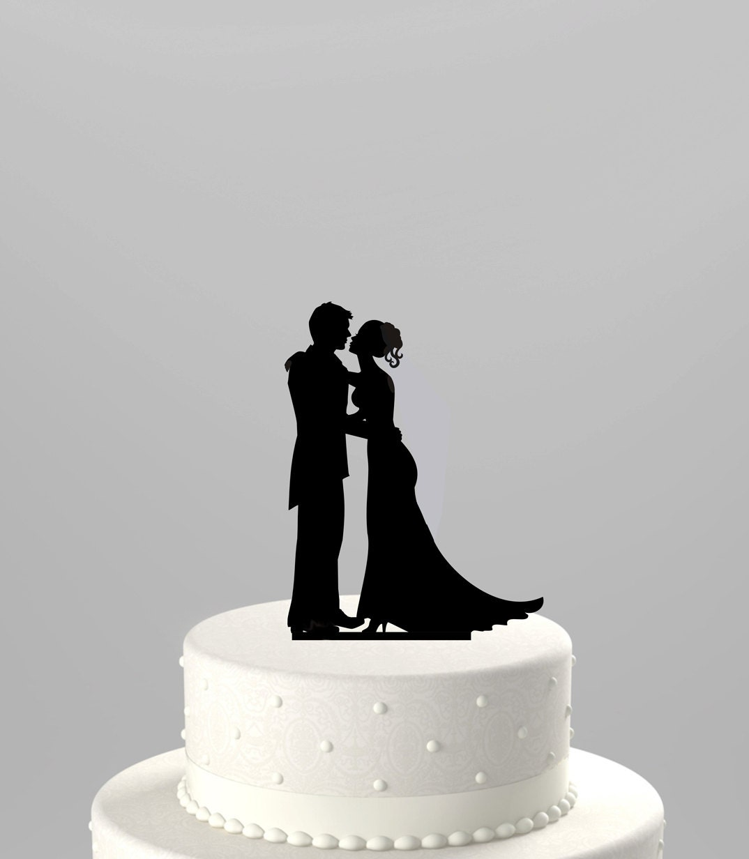 silhouette cake topper wedding cake topper silhouette groom and acrylic cake 7369