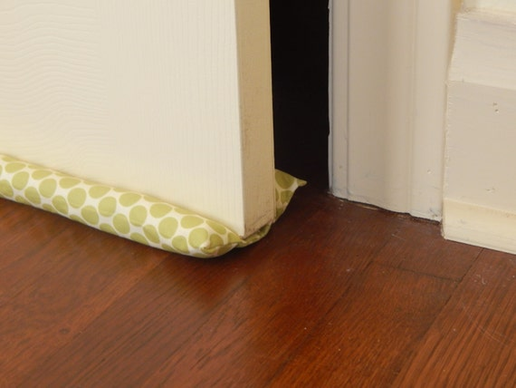 Double sided door draft stopper modern green by pinsandpillows for Front door draft stopper