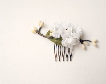 Woodland hair comb, Leafy hair comb, Wedding hair, Leaf head piece, Branch hair comb, bridal hair comb, woodland whimsy wedding hair