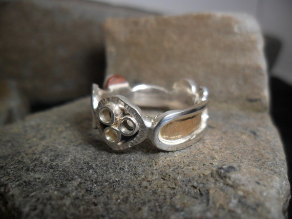 ring in sterling silver copper and gold to variable