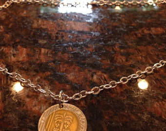 Israel 10 new shekels coin necklace