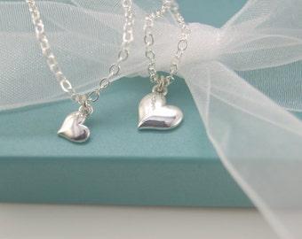 Mother's Day, Tiny heart bracelets, Tiny heart bracelet set, Mother and daughter bracelet set