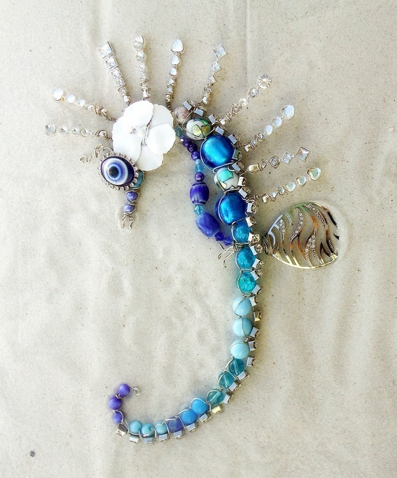 Seahorse Wall Decor Statement Focal Art Wall Hanging