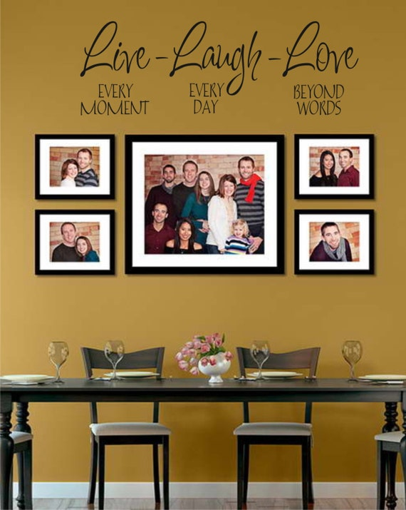 Beyond Words Customizable Wall Decor Kohls : Live every moment laugh day love beyond words