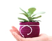 Fabric Flower Pot Cover Succulent Planter Crochet Plant Cozy Decorative Container Home Decor