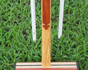 4: Croquet Mallet - Curly Bubinga and White Ash