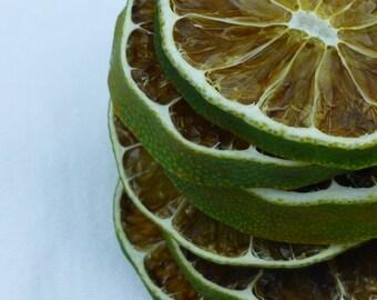 Organic Dried Lime Slices | Citrus Fruit Ornament | Potpourri | Sachet | Decoration | Garland | Primitive