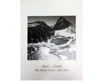 Ansel adams snowy mountains the mural project 1941 1942 for Ansel adams mural project