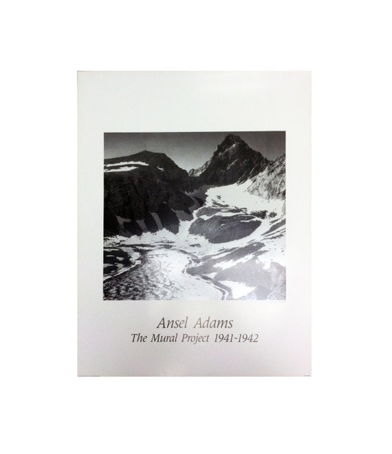 Vinatage ansel adams snowy mountains the mural for Ansel adams the mural project prints