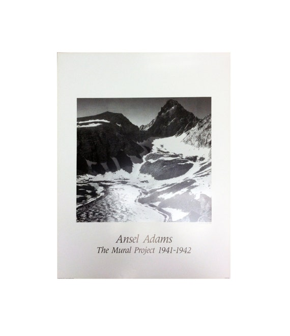 Vinatage ansel adams snowy mountains the mural for Ansel adams mural project posters