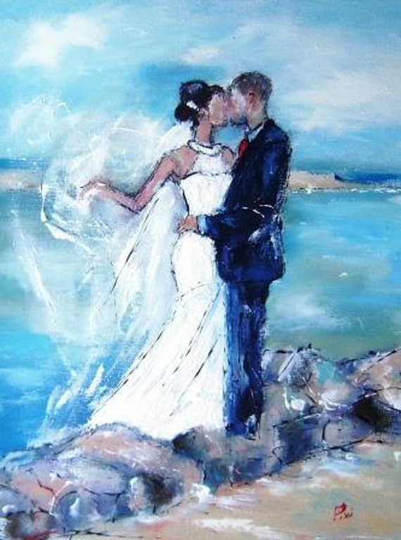 Wedding painting and art gifts-custom art portraits in