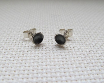 Mini Domes - Oxidised Sterling Silver